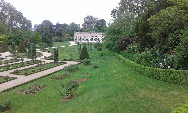 Le parc de Bagatelle et la «Folie» d'Artois.
